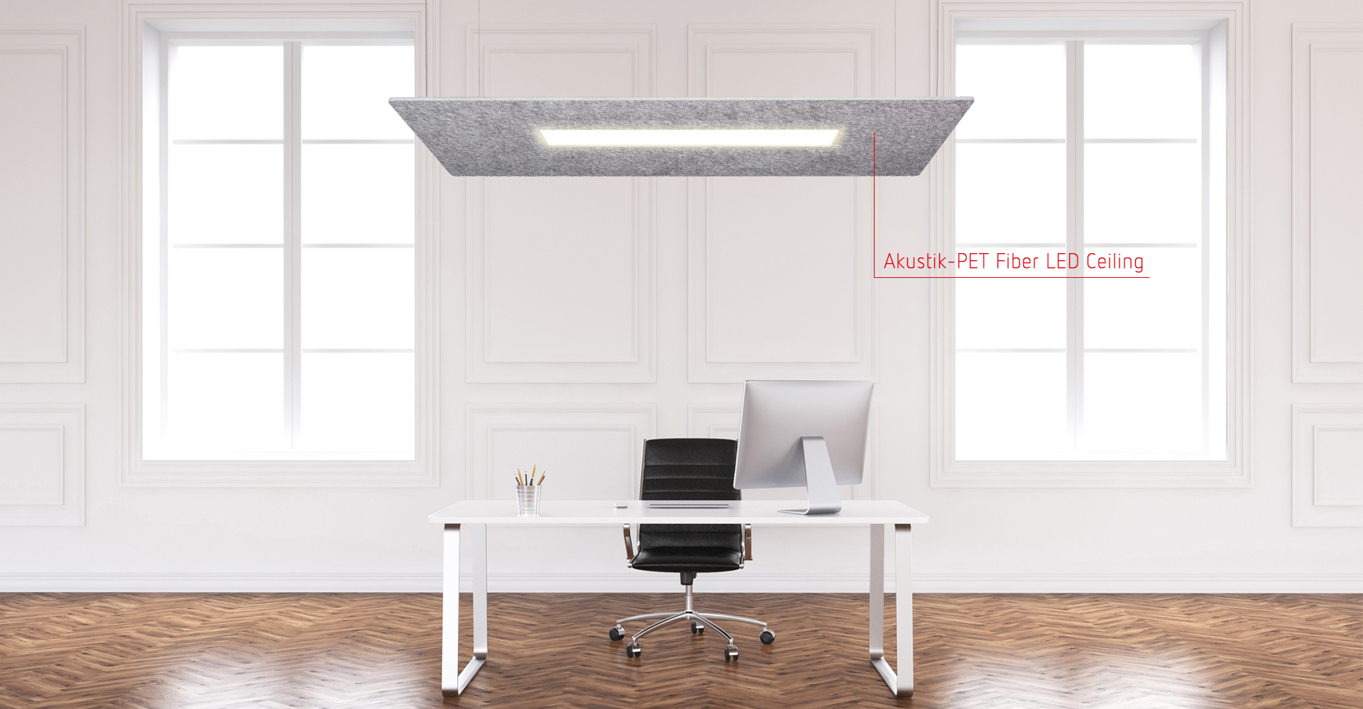Akustik-PET Fiber LED Ceiling